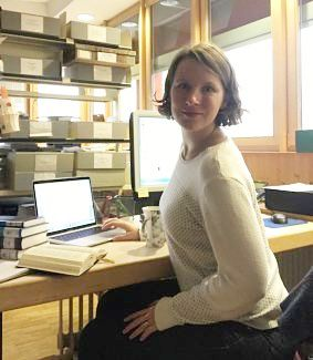 Anna Nowicki, in her Brenner Archiv office