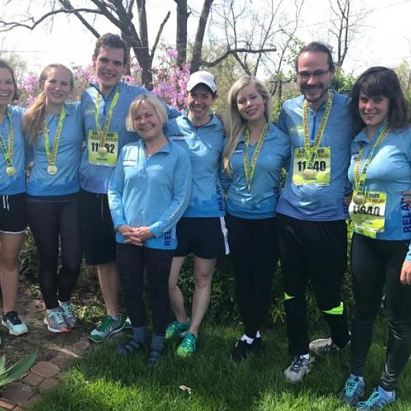 Members of the Department Participated in St. Louis Go! Marathon Relay Event