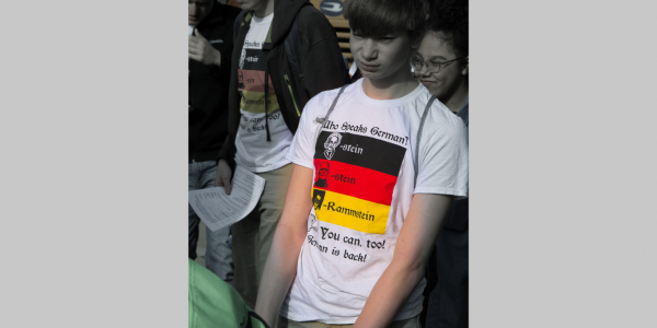 One of the local high schools had their students wear a terrific t-shirt.